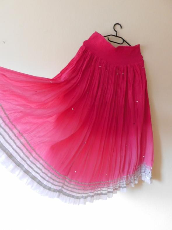 Spódnice Monsoon długa zwiewna spódnica róż cekiny 38