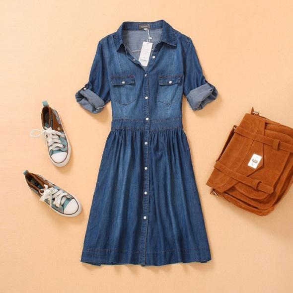 Jeansowa sukienka