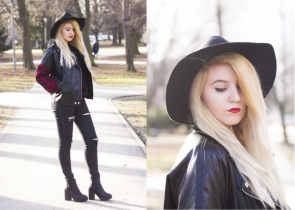 Romantyczne Total black look and Red details