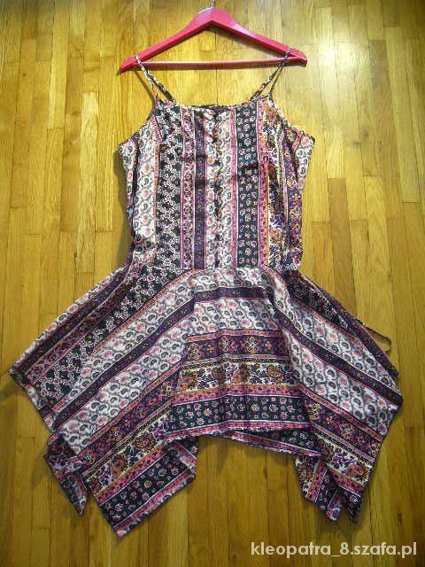 GEORGE 46 asymetryczna sukienka ETNO