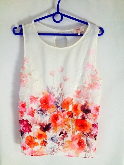 Koszula mgiełka kwiaty Next bluzka kwiatki floral...
