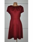 Bordowa sukienka plus size 50 52