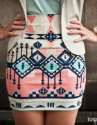 spódnica bershka aztec wzory