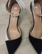 czarno biale sandalki
