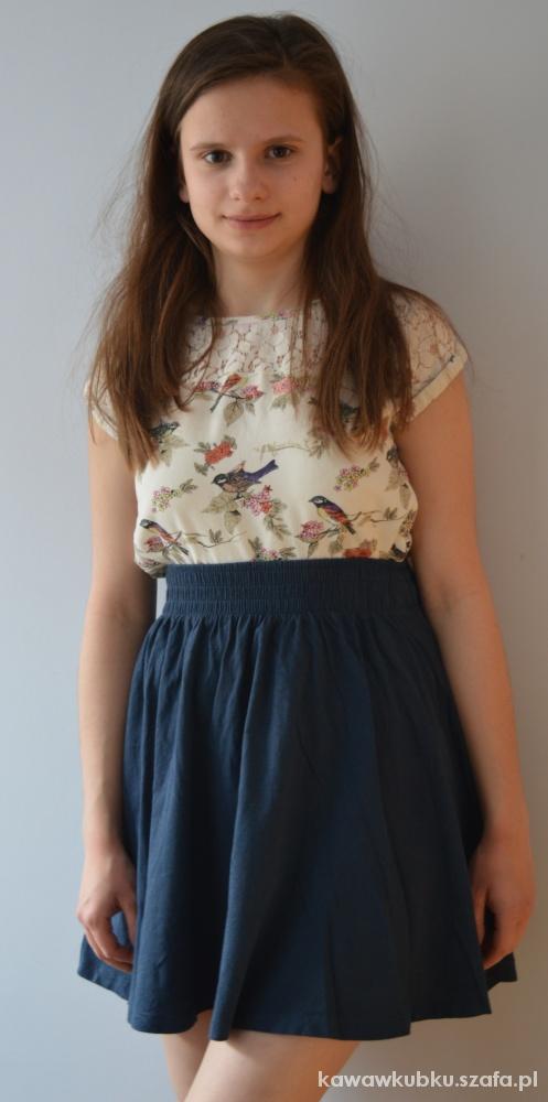 Spódnice Granatowa letnia spódniczka