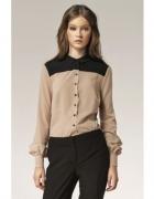 koszula beżowo czarna marki nife rozmiar 36