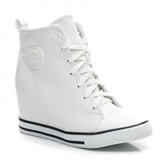 Sneakersy trampki na koturnie Vices Donna 38 białe w