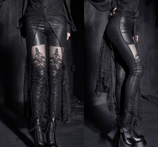 Gotyckie legginsy GOTH RETRO PUNK