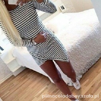 sukienka asymetryczna paski