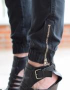 1071A Militarne spodnie nero ZIP L