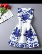 Sukienka Róże niebieskie 36 38