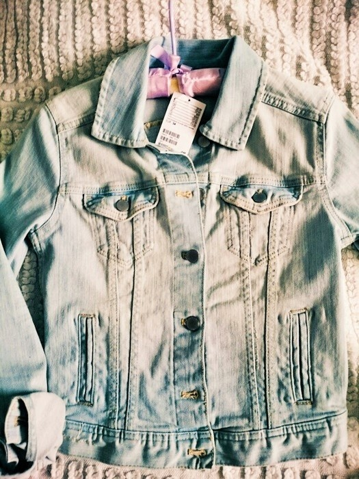 Kurtka jeansowa Nowa HM katana jasna 34 w Odzież wierzchnia