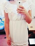 sukienka boho style koronka