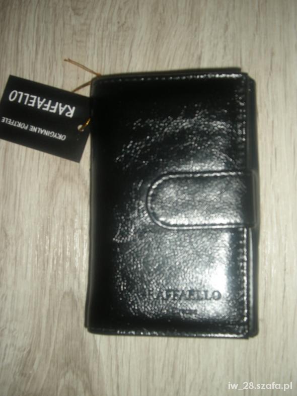 8c0efef399e3a Rafaello portfel damski czarny 145cmx10cm w Portfele - Szafa.pl