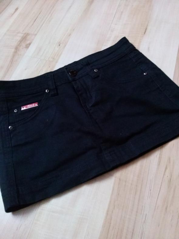 Spódnice Czarna Spódniczka Mini S Klasyczna