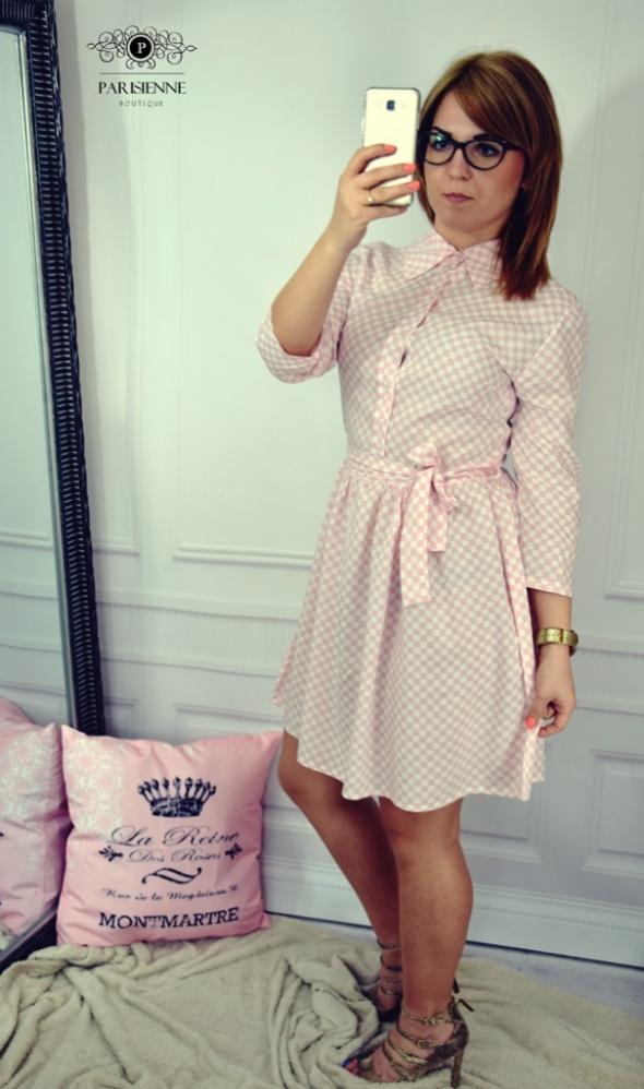Mój styl Krata pink&white