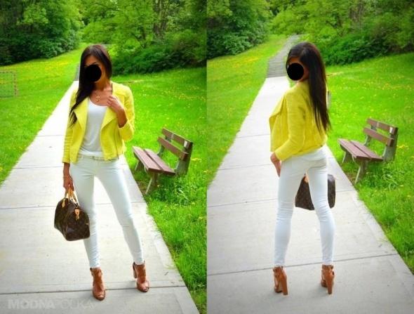 Mój styl limonka i biel