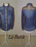 Koszula Burberry wstawki L