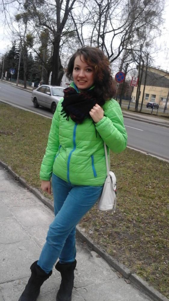 Mój styl Zielona kurtka