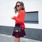 czarna spódnica z falbanką Orsay