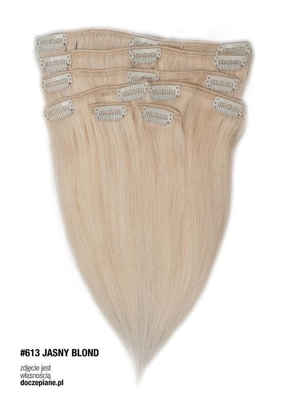 Inne Włosy Clip in Remy 40 cm BLOND