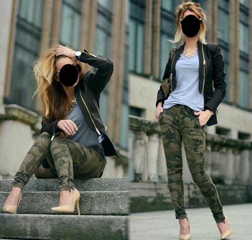 Mój styl spodnie moro
