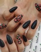 czarne matowe i róże