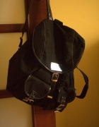 Plecak vintage czarny pojemny