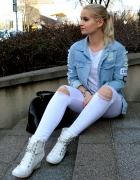 White and jeans