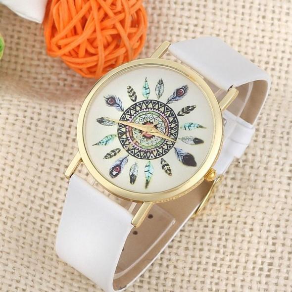Biały Zegarek Piórkowy