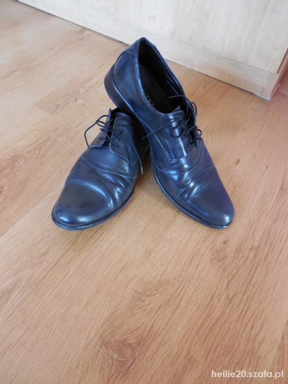 Półbuty musiał collection skóra buty ślubne 43