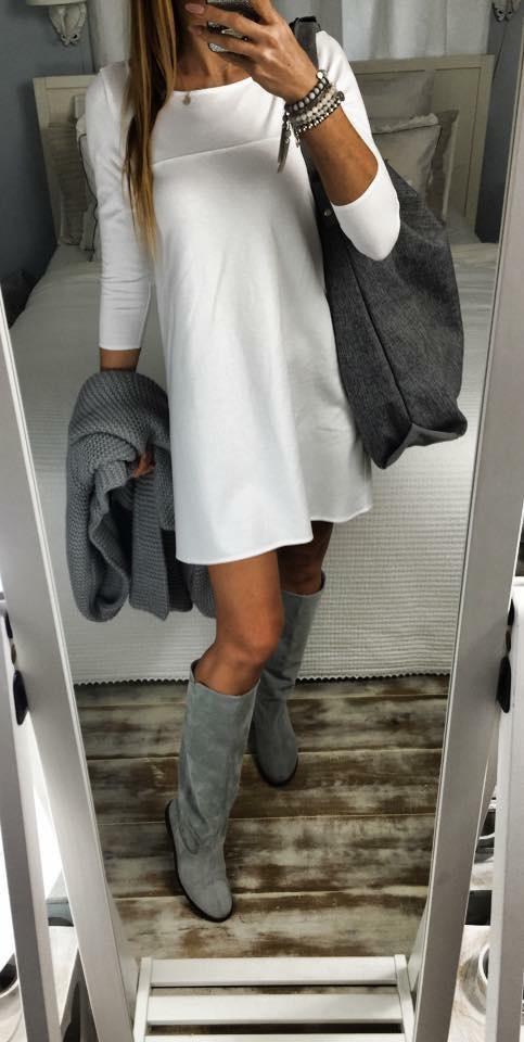 Eleganckie white & grey