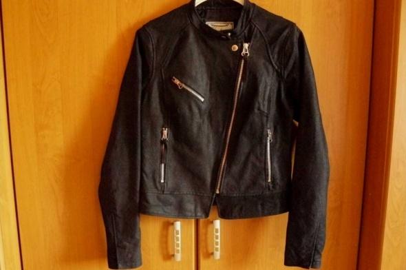 Odzież wierzchnia Ramoneska Skóra Frędzle Firmy New Look