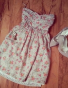 bershka sukienka w kwiatki floral