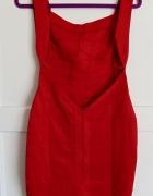 sukienka gołe plecy czerwona roz S