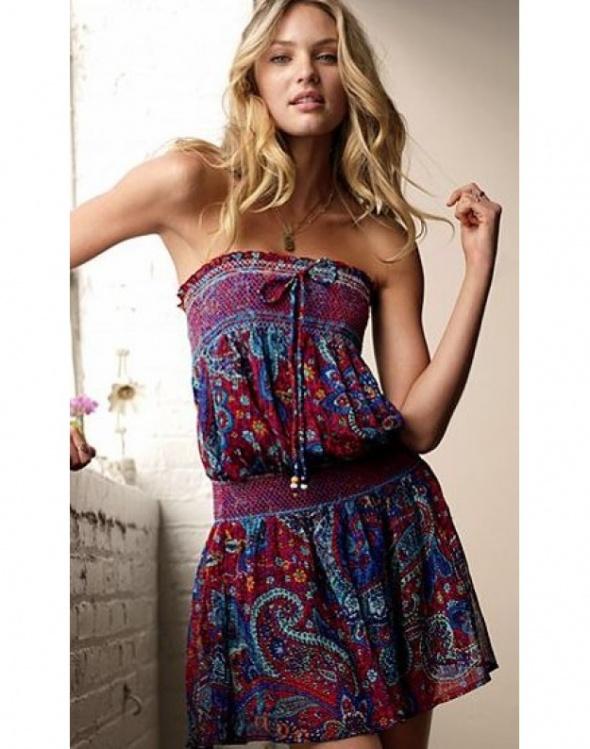Victoria s Secret sukienka boho hippie