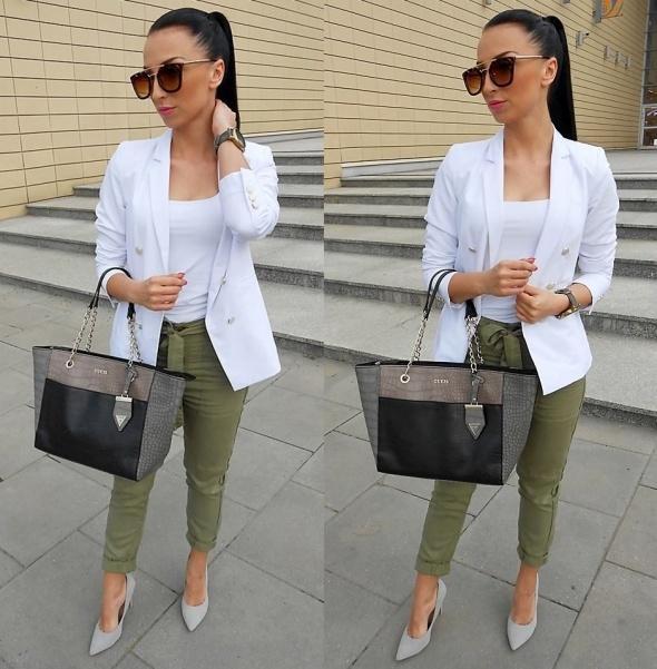 Ubrania spodnie z bershki khaki poszukuje takie jak na zdj