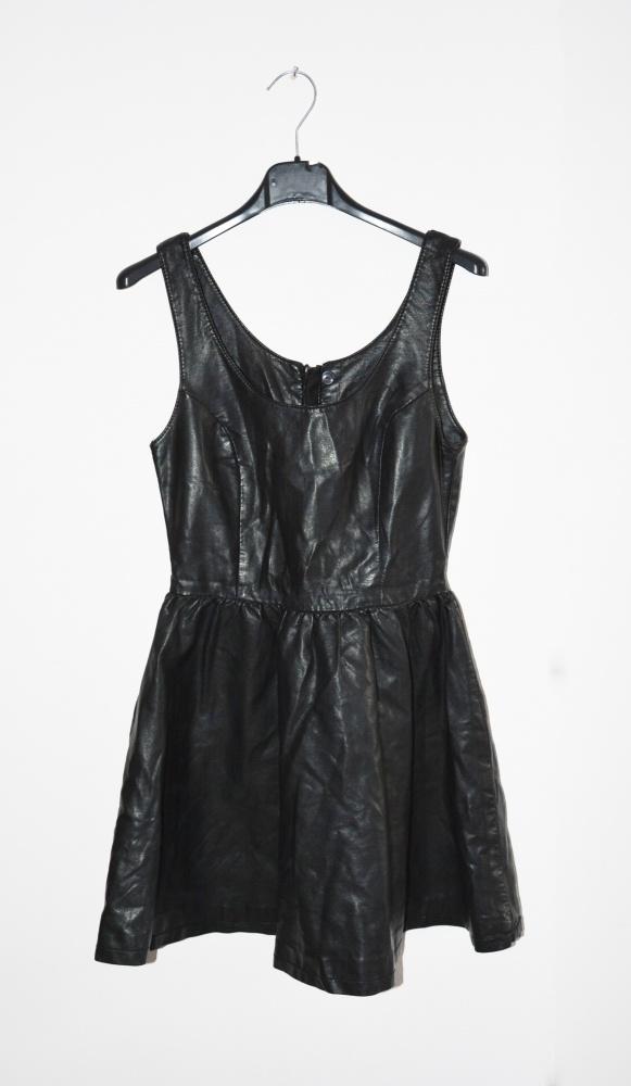 piękna skórzana sukienka H&M
