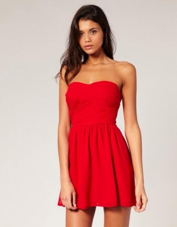 Ubrania Czerwona sukienka asos topshop