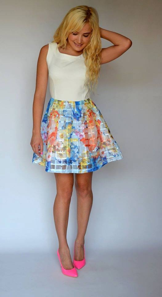 Kolorowa sexy sukienka