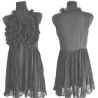 Czarna sukienka z żabotami