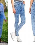 Elastyczne jeansy z wysokim stanem S