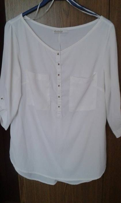 Ubrania Koszula Stradivarius Biała Poszukiwana