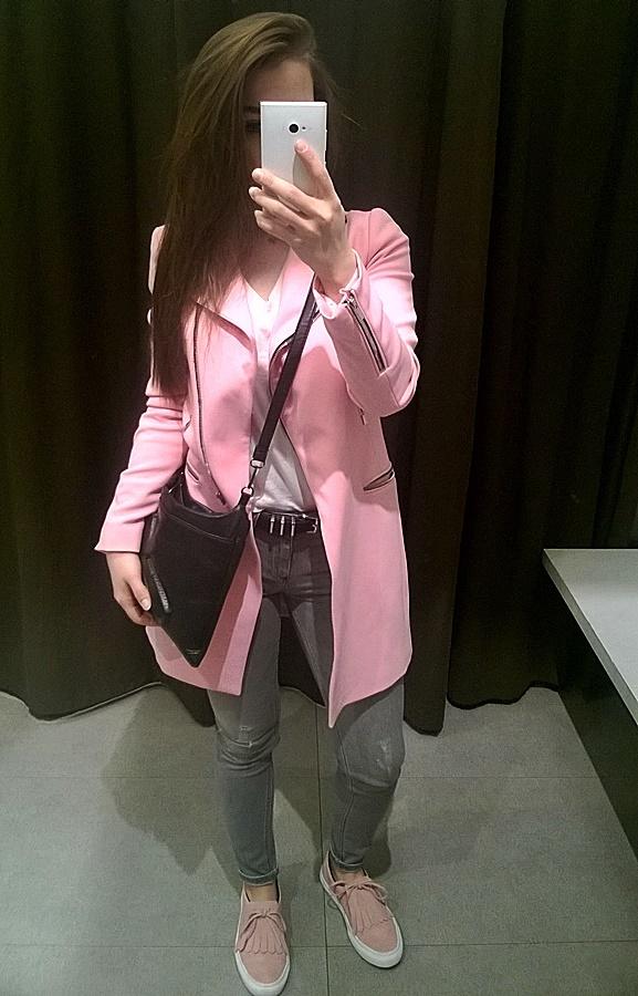 Codzienne Pink Coat Zara