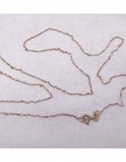 Łańcuszek długi złoto 585