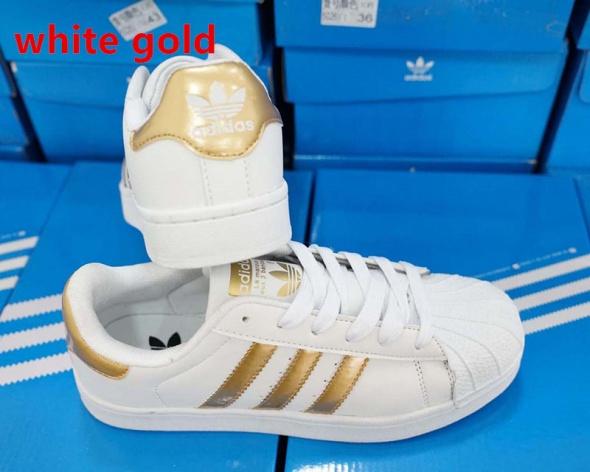 adidas buty damskie biało złote