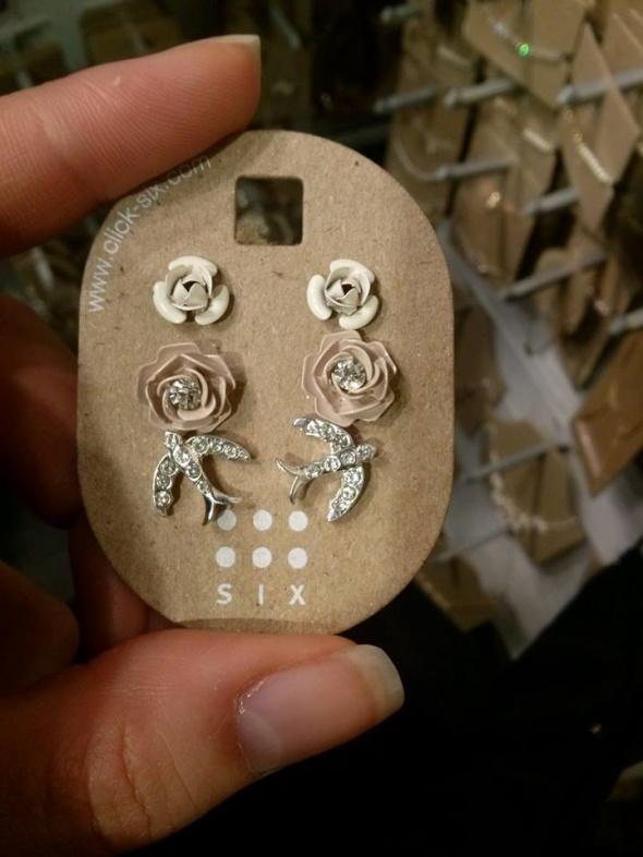 six zestaw róża biała różowa ptaki pudrowy róż...
