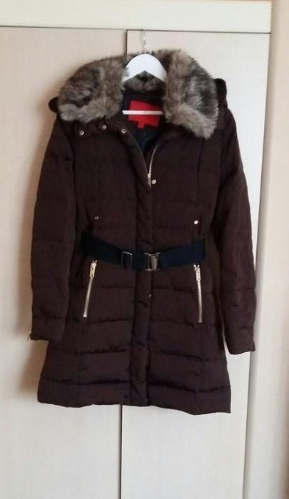 0078a858a5fc5 Brązowa kurtka puchowa mango płaszcz puchowy s w Odzież wierzchnia ...