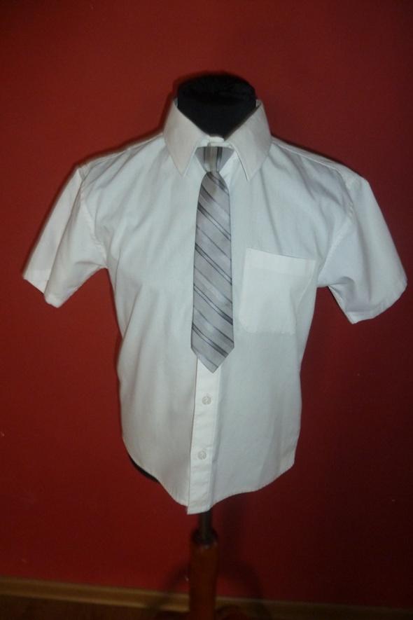 Koszulki, podkoszulki koszula biała 128 Marks Spencer
