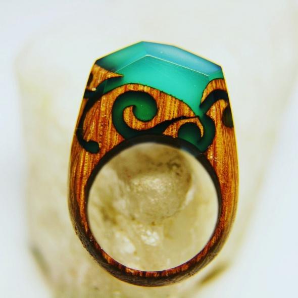 Ręcznie wykonywane pierścionki z akcentem natury...